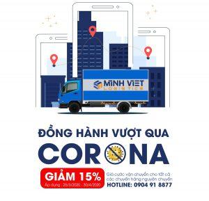 Đồng hành vượt qua Corona – Giảm 15% giá cước vận chuyển cho tất cả chuyến hàng nguyên chuyến